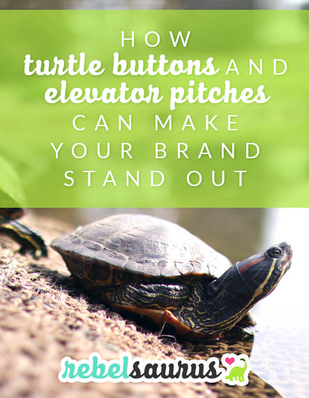 How Turtle Buttons and Elevator Pitches Can Make Your Brand Stand Out