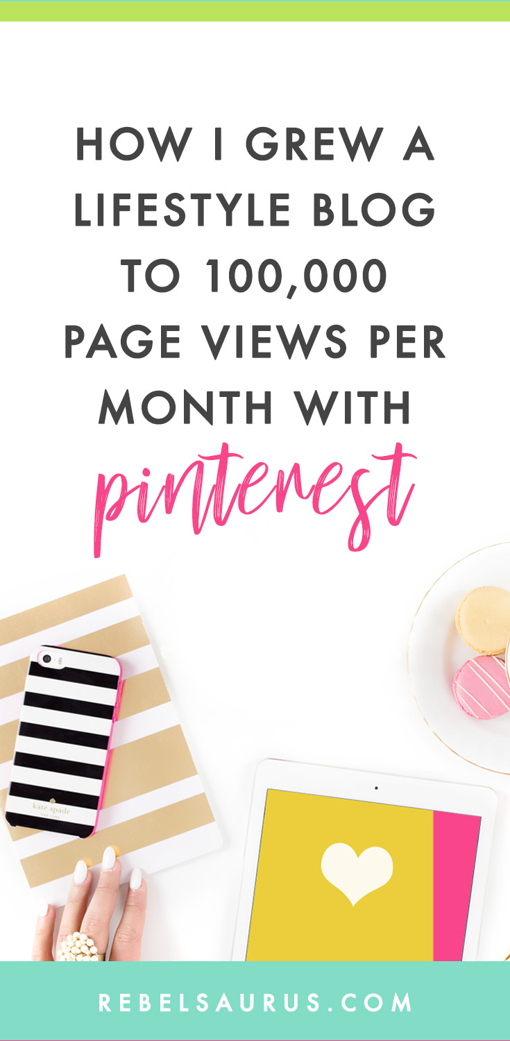 I spent most of an entire year working on one of my other businesses, a personal development blog, teaching people how to live a happier life.  Here's how I skyrocketed a lifestyle blog's page views each month with Pinterest and a whole lot of blog posts.