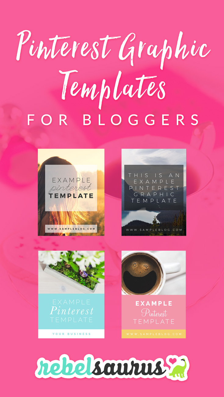 These are Pinterest graphic templates that I've designed that you can use to promote your blog posts on Pinterest and social media. You can customize them with your own text, photos, colors, or fonts in Photoshop. :) Just buy one template and you can reuse it for all your blog posts!