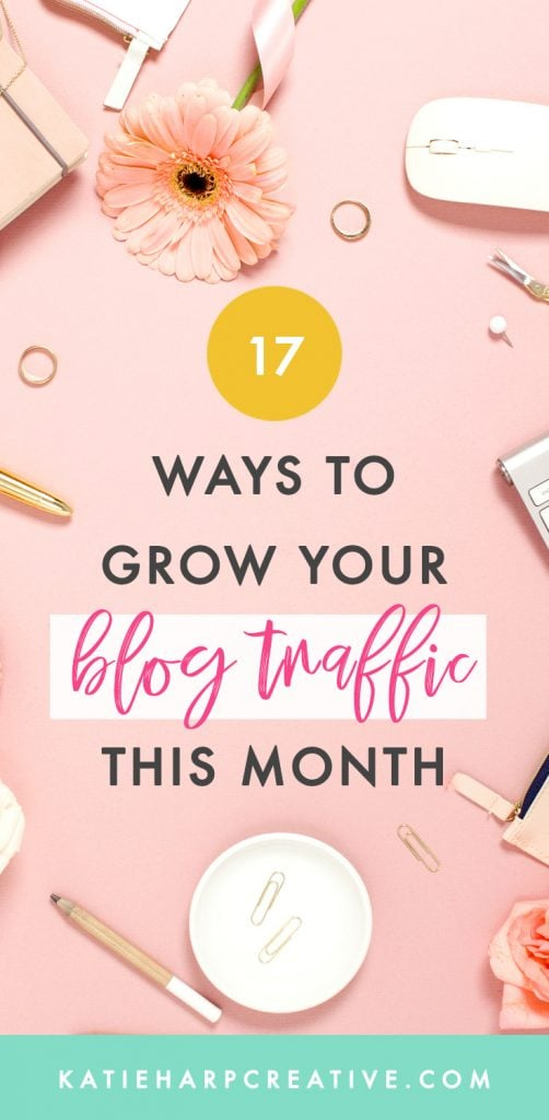 If you've recently started a blog or your blog hasn't gotten traction yet, here are 17 ways to increase blog traffic this month that I've used in my own blogs so I know can work for you. 😃