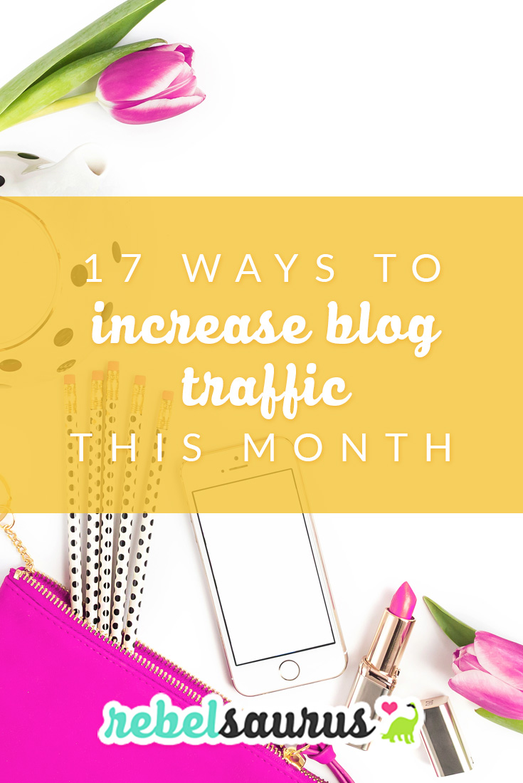 If you've recently started a blog or your blog hasn't gotten traction yet, here are 17 ways to increase blog traffic this month that I've used in my own blogs so I know can work for you. 😃 I used tips like these to increase the blog traffic one of my blogs until we went from 3,000 monthly page views to 70,000 in our highest month in just a few months.