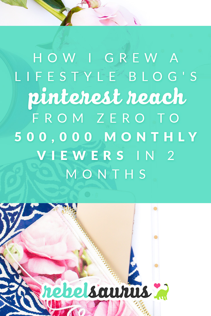 I recently checked the stats for my lifestyle blog and was shocked to see that we're at nearly 500,000 monthly Pinterest viewers, and I've only been working on that blog for a couple months. Here's how to grow a blog's Pinterest reach in a short amount of time.