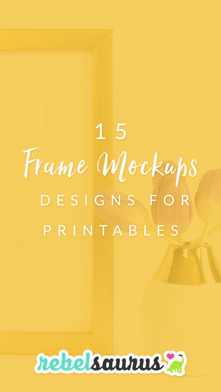 Give your customers a preview of what your art or printables might look like as a framed print in their home. Here are 15 frame mockups designs for printables, such as posters or inspirational prints you sell on Etsy or another art shop. You can also use these frame mockups to show off your photography or other art!