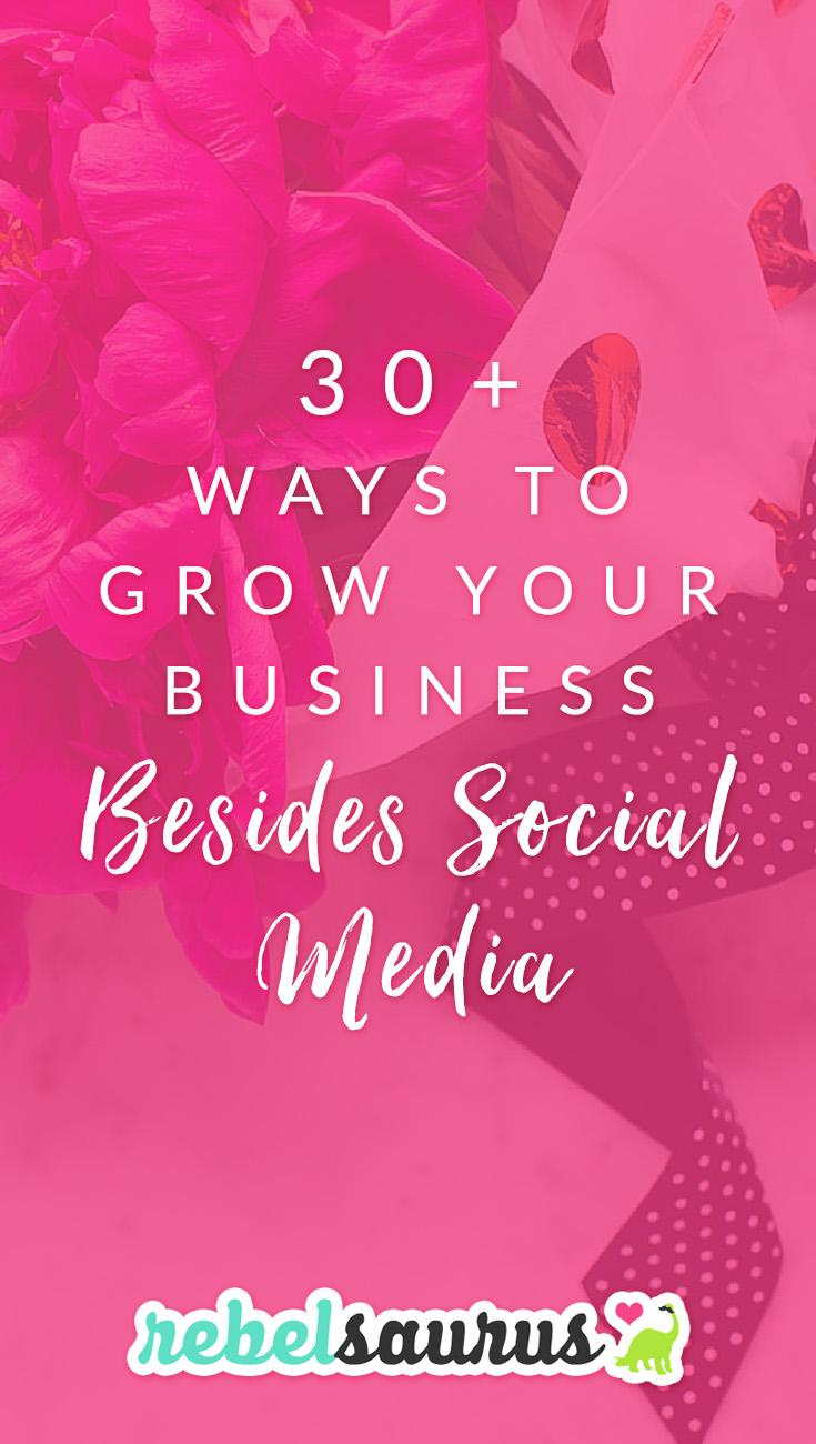 Frustrated with the changes to social media algorithms? Not getting the results you used to? Don't worry, there are a LOT of other ways to grow an online business besides social media if it's not working the way you hoped. Here are 30+ ways to grow your business besides social media.