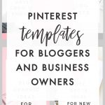 Canva Pinterest Pin Templates for Bloggers