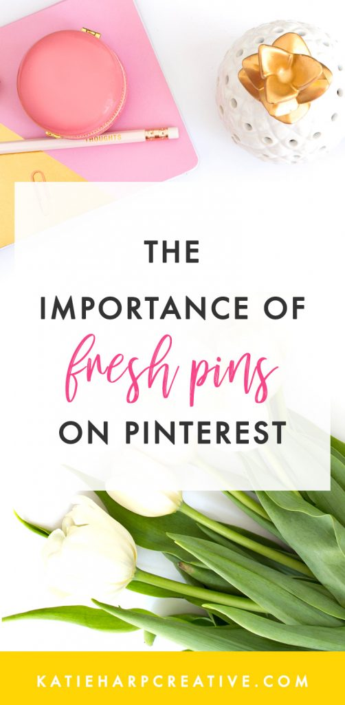 "You may have heard about the idea of ""fresh pins"" for Pinterest. But what are they, and how do they work? In this blog post I'm going to talk about the importance of fresh pins."