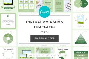 green-instagram-templates
