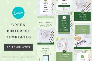 green-pinterest-templates