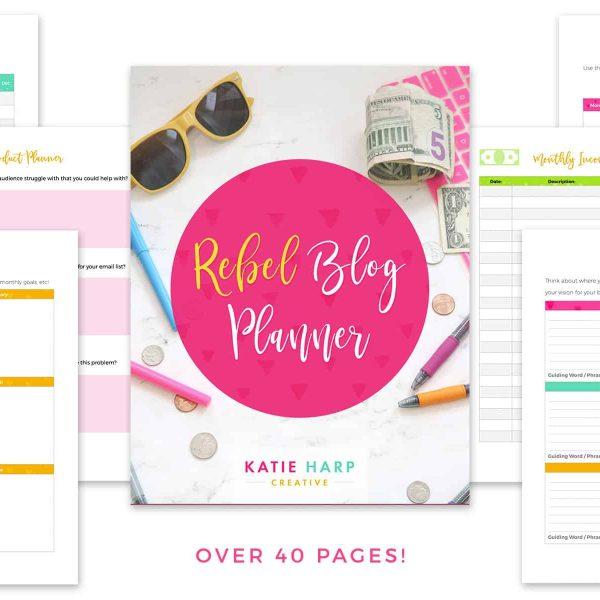 Rebel Blog Planner Preview